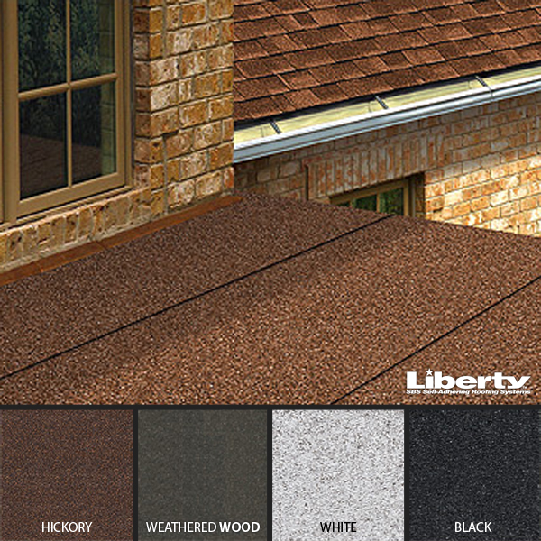 Liberty Low Slope Self Adhering Shingles Gafshingles Ca