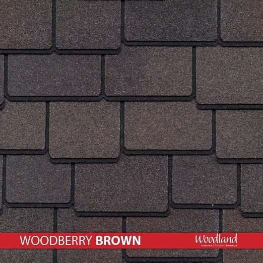 GAF Value Collection Designer Shingles Woodland – Woodberry Brown